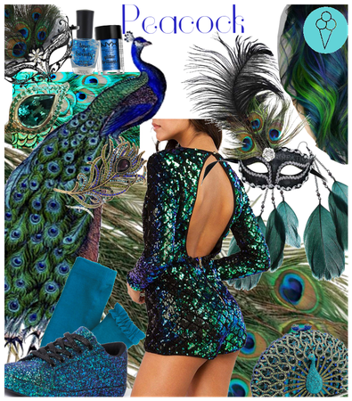 # Peacock # Animal inspired Halloween costume Diy