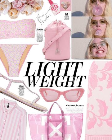 lightweight pastel pink