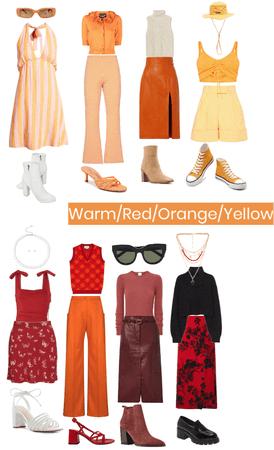 Warm/Red/Orange/Yellow