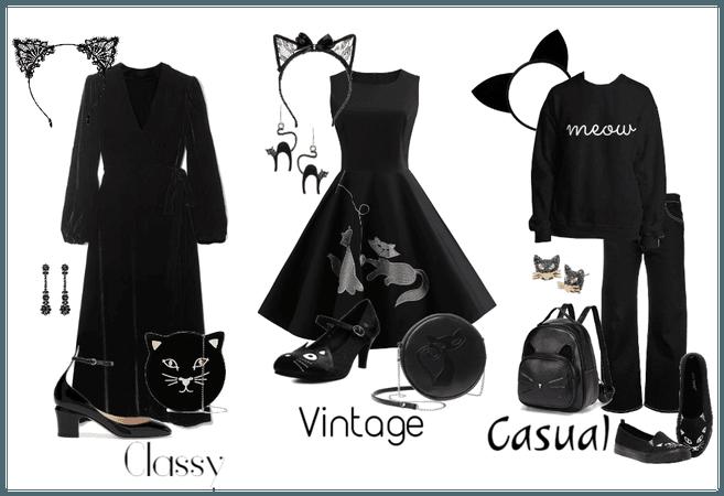 Black Cat Look in 3 Styles