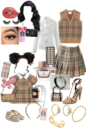 mother & daughter Burberry