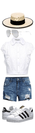 white Casual Short outfit