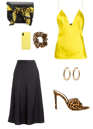 Yellow with leopard