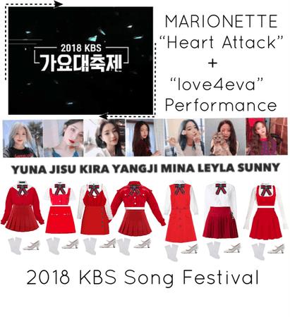 """{MARIONETTE} 2018 KBS Song Festival """"Heart Attack"""" + """"love4eva"""" Performance"""