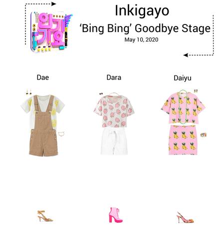 {3D}'Bing Bing' Inkigayo Goodbye Stage
