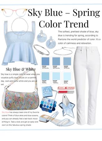 •TREND~Sky Blue & White•
