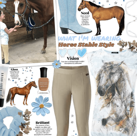 What I'M wearing- horse stable style