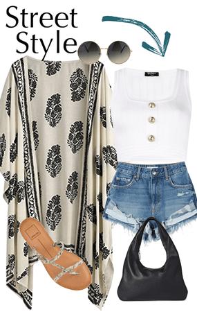 Casual summer kimono look