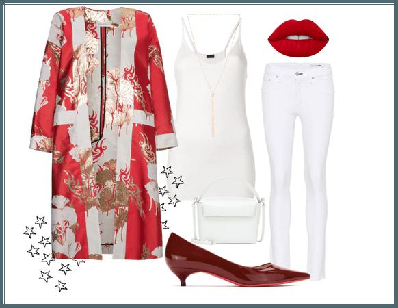 Kimono y todo blanco