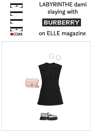 Dami 's burberry 3rd outfit on ELLE magazine