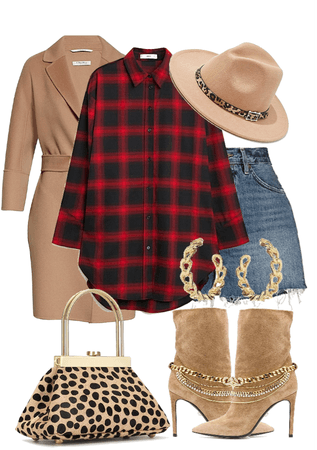 animal print and plaid