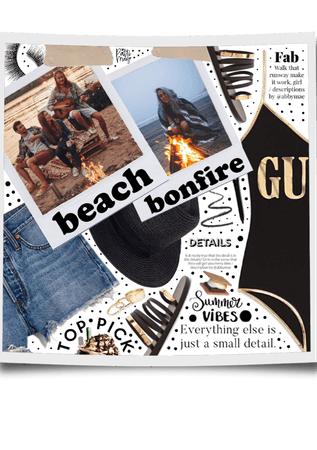 Summer Beach Bonfire 🔥🖤
