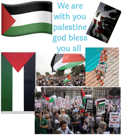 We are with you Palestine