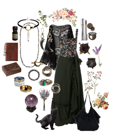 herbal witch look # 1