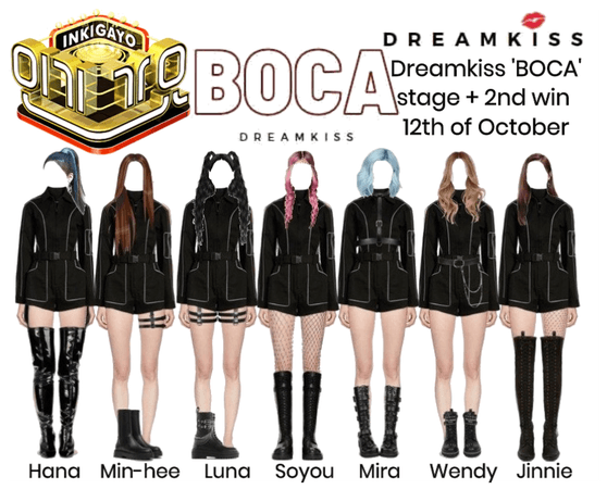 Dreamkiss 'BOCA' stage + 2nd win 201012
