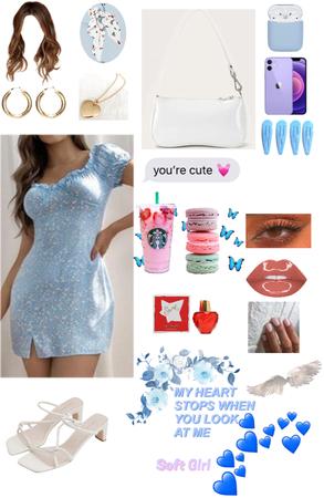 blue soft girl