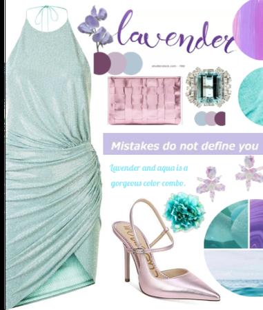 Aqua and lavender