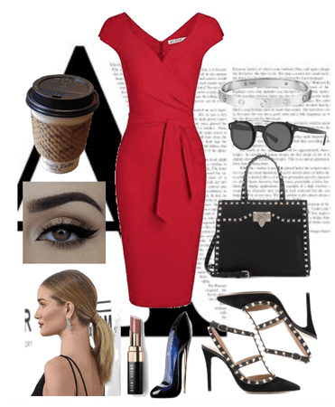 INVERTED TRIANGLE EDGY OFFICE LOOK