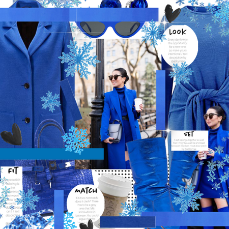 blue monochrome winter