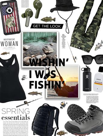 Spring fashion/ Wishin I was fishin