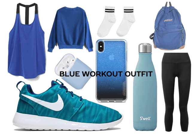 Blue Workout Outfit