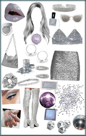 Purple&Silver Sparkles