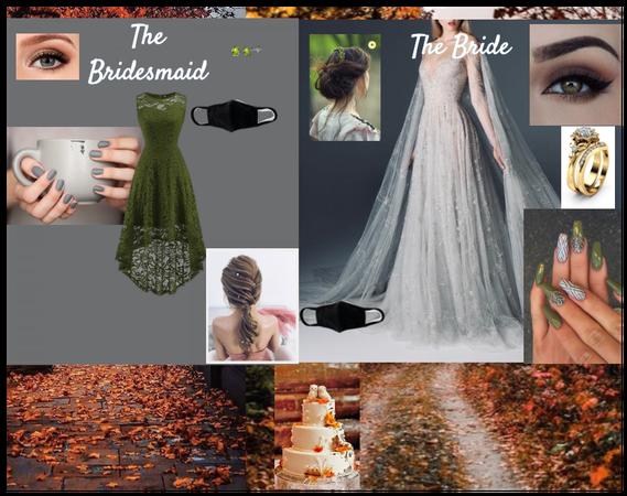 Bride/bridesmaid wedding fall