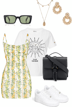 dress with graphic tee
