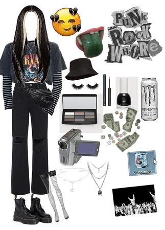 e firl rock outfit