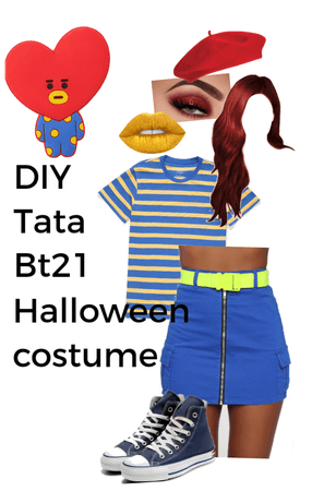 Diy tata bt21 costume for halloween.