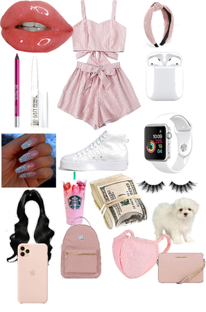 pink and white fashion morning outfits