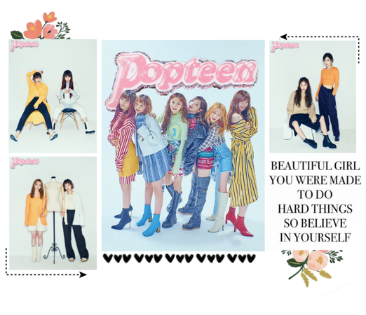 《6mix》Popteen Magazine Photoshoot