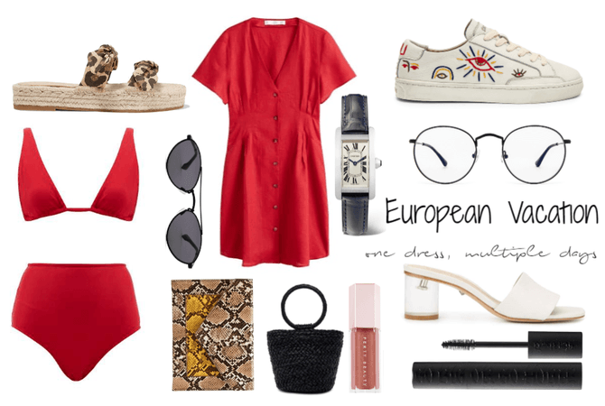 Euro vacation, one dress