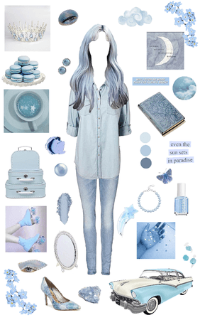 Muted Pastels: blue
