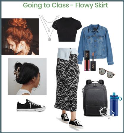 Going to Class - Flowy Skirt