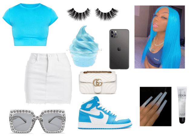 Baby blue fit