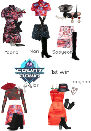 cherry debut stage MCountdown 1st win