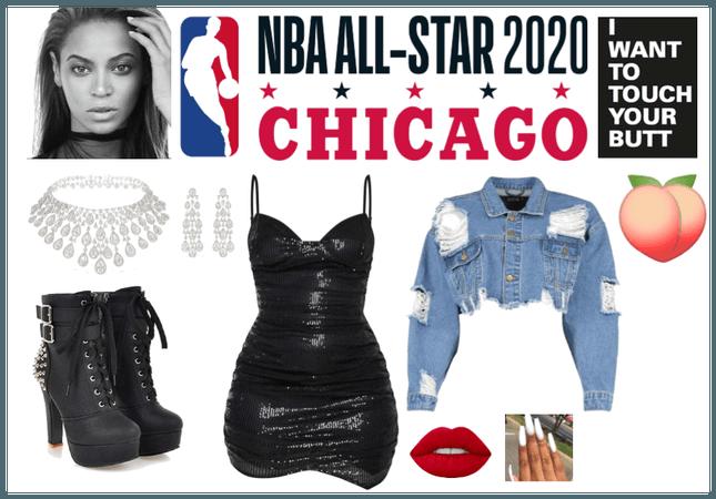 Beyonce NBA all star