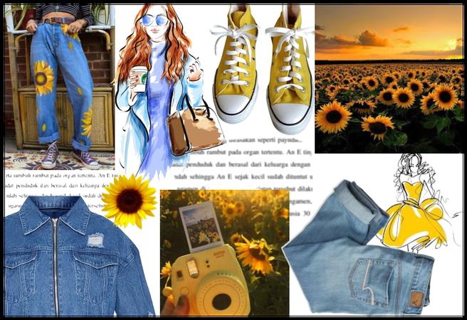 Denim + Sunflower