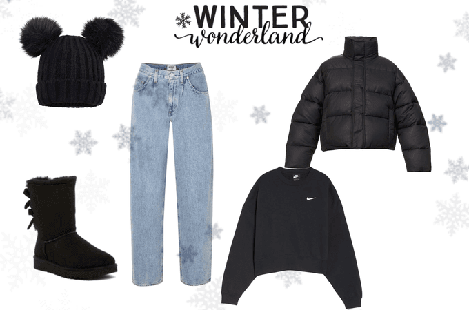 black outfit for winter ❄️