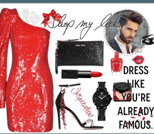 Glitter Red & Black