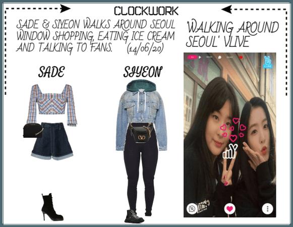 *CWK*| VLIVE: WALKING AROUND SEOUL | SADE X SIYEON