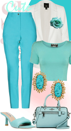 cute turquoise