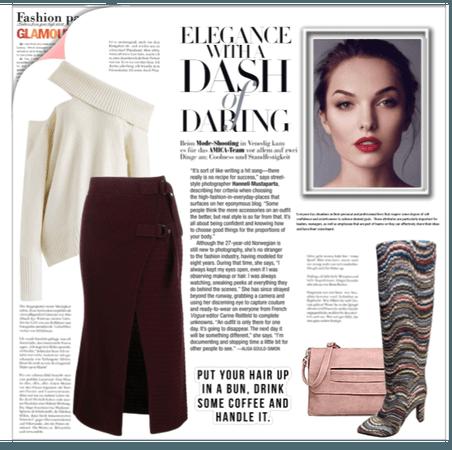 Knitted Skirt.