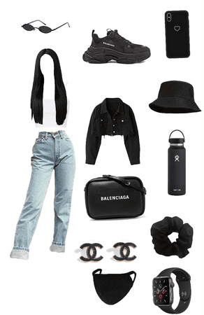 black out fit