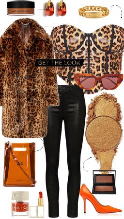 cheetah & orange honey suckle