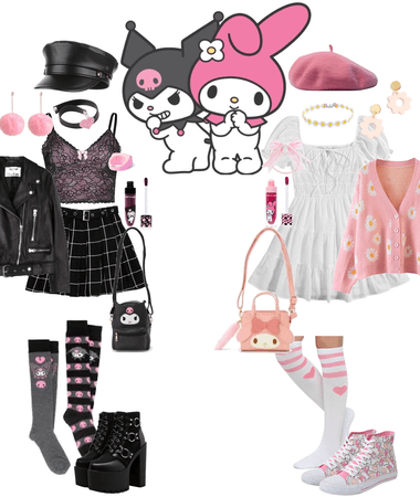 Melody and Kuromi inspired outfits