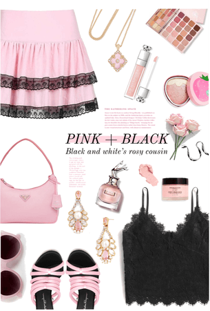 Summer Pink & Black II