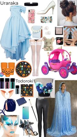 Todoroki the Fairy Godmother and Uraraka as Cinderella