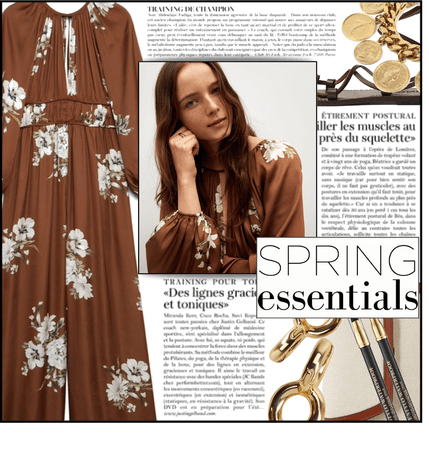 Fashion File: Brown Floral Jumpsuit & Gold Earrings